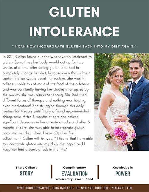 Chiropractic Colorado Springs CO Gluten Intolerance